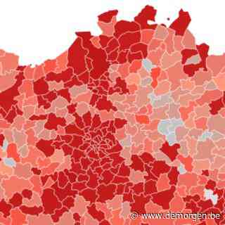 Heel België kleurt rood: bekijk de belangrijkste cijfers en kaarten