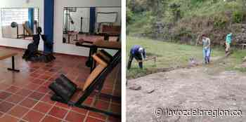 Autoridades realizan mantenimiento a escenarios deportivos en Nátaga - Noticias