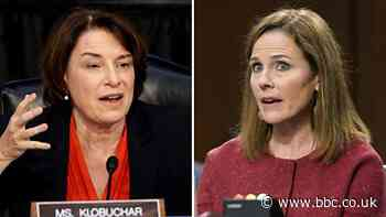 Amy Coney Barrett dodges Klobuchar question on voter intimidation law