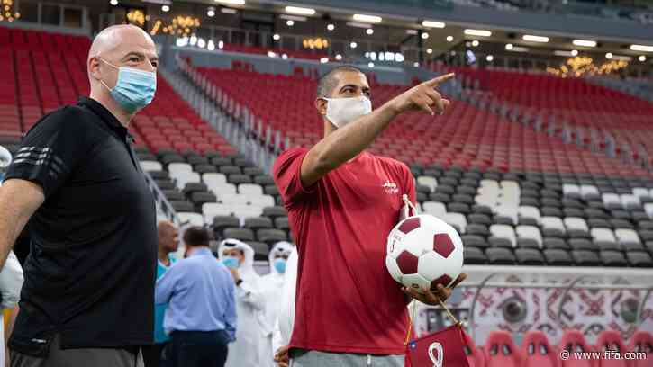 FIFA President praises Qatar's World Cup preparations during his first visit to Al Bayt Stadium