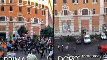 San Lorenzo, tagliati il tiglio e il fico cresciuti davanti al Cinema Palazzo