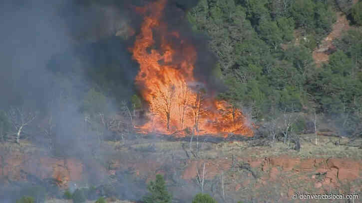 Crews Fight Wild Horse Fire Burning On Fort Carson From Ground, Air