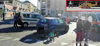 SANTHIA', ORE D'ANSIA PER LA SIGNORA ANITA ROBBIANO - La pensionata investita da un'auto alla Rotonda di Corso Matteotti - vercellioggi.it/