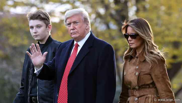 Barron Trump tested positive for coronavirus, Melania Trump says