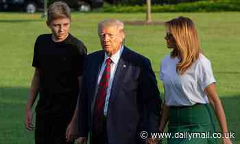 Barron Trump tested positive for COVID at same time as his parents, Melania reveals