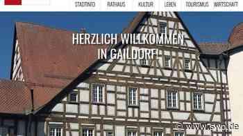 Homepage Gaildorf: Online-Auftritt der Stadt bekommt eine Frischzellenkur - SWP