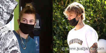 Justin Bieber Stops By A Friend's House While Wife Hailey Meets Up With Friends in LA