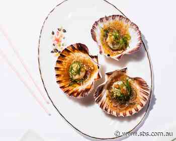 Steamed scallops with glass noodles