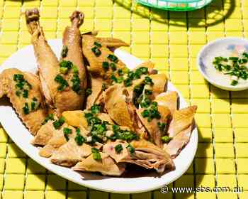 Hong Kong-style poached chicken with sand ginger