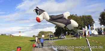 Riesenobjekte begeistern das Publikum: Flugobjekte erobern den Himmel von Krautsand - Kreiszeitung Wochenblatt