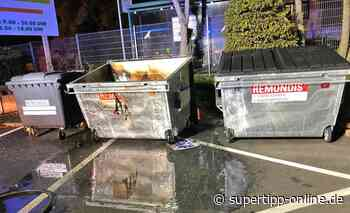 Polizei in Haan ermittelt zu Containerbrand - Kreis Mettmann - Supertipp Online