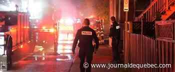 [PHOTOS] Incendie cette nuit dans un bâtiment de deux étages à Limoilou