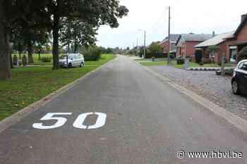 Snelheidsbeperking in Alken ondersteboven geschilderd (Alken) - Het Belang van Limburg