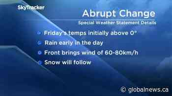 Special weather statement issued for much of Alberta