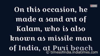 Sand artist Sudarsan Pattnaik remembers former president Kalam on his birthday