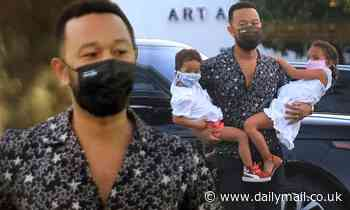 John Legend picks up groceries with Luna and Miles after performance dedicated to Chrissy Teigen