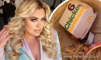 Gemma Collins 'panic eats' McDonald's to deal with the 'stress' of new lockdown rules