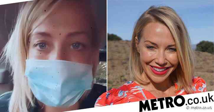A Place in the Sun presenter Laura Hamilton wears face mask 'upside down' as she gets tested for Covid