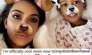 Kim Kardashian declares that she's officially a 'cool mom now' to her four kids with new role