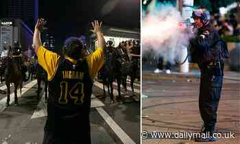 Lakers fan's eyeball 'exploded' after he was hit with police projectiles during Finals celebrations