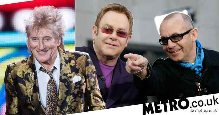 Bernie Taupin makes light of Sir Elton John's 'feud' with Sir Rod Stewart with savage joke on Instagram