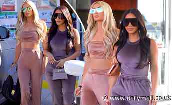 Kim Kardashian and her old boss Paris Hilton serve early 2000s vibes in velour tracksuits