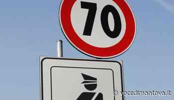 Limite dei 70kmh nel tratto all'inizio del centro abitato di Castellucchio - La Voce di Mantova