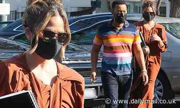 Chrissy Teigen looks stunning with husband John Legend in first outing since losing baby