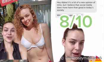 Bachelor star Abbie Chatfield rates her cheeky one-liners on Tinder after her ban was lifted