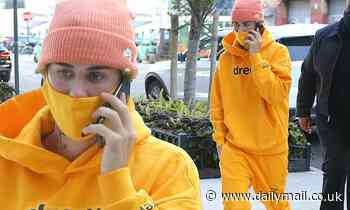 Justin Bieber dons Drew House ensemble as he makes his way to rehearsal for SNL performance