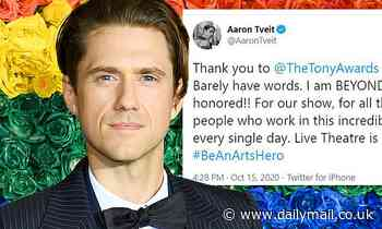Aaron Tveit becomes the ONLY actor nominated in his Tony Awards category