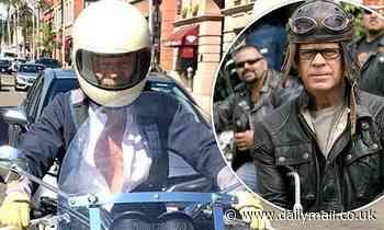 William H. Macy proves he is still a Wild Hog at heart as he hops aboard motorcycle for LA ride