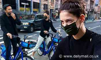 Katie Holmes masters casual chic fall style as she enjoys day with boyfriendEmilio Vitolo Jr in NYC