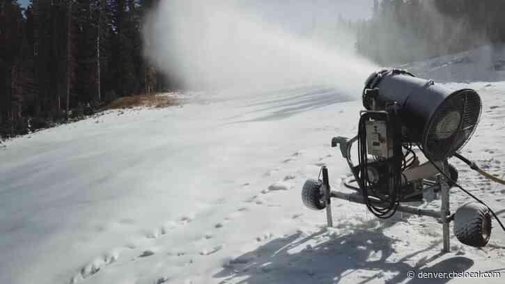 Loveland Ski Area Snowmaking Guns Fired Up For The Upcoming Season