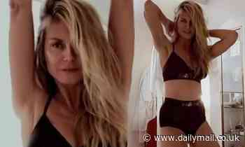 Heidi Klum shows off supermodel figure as she dances around at home in Savage X Fenty lingerie
