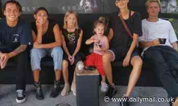 Lindy Klim spends a day out with her children after revealing they contracted dengue fever