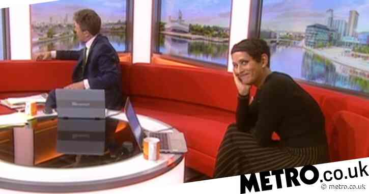 Naga Munchetty squirms as BBC Breakfast guest teaches Charlie Stayt how to fend off seagulls