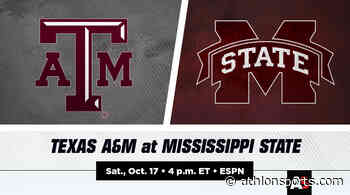 Texas A&M vs. Mississippi State Football Prediction and Preview - Athlon Sports