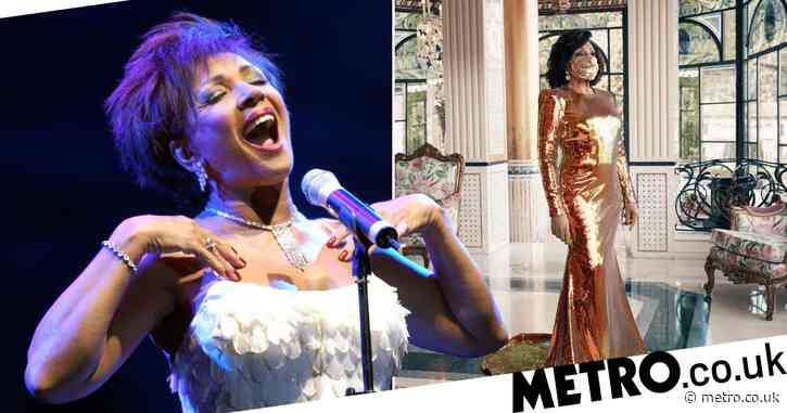Dame Shirley Bassey is showstopping as she rocks golden gown and face mask to celebrate 70 years in showbiz