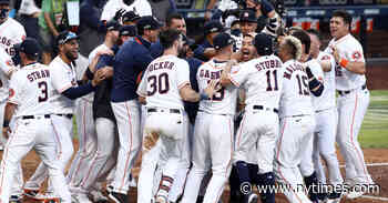 Astros Strike Early and Late to Stay Alive