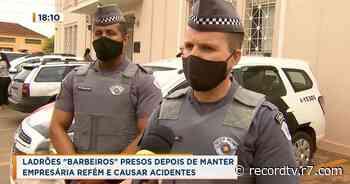 Ladrões mantêm empresária refém e causam acidentes, em Ituverava - Record TV