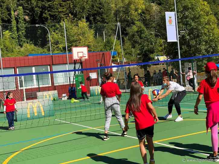 McDonald's inaugura ad Arquata del Tronto i nuovi campi sportivi