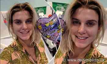 Pregnant Ashley James shares old photo from when she had sepsis