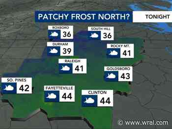 Frost possible Friday night as cold weather moves in