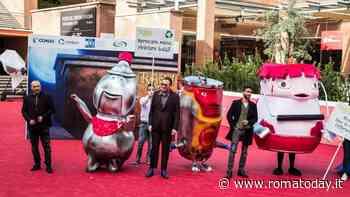 """""""Trash"""", cartoon su rifiuti alla Festa di Roma: red carpet invaso da bottiglie e lattine ammaccate"""