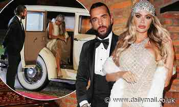 TOWIE's Chloe Sims sizzles in a sheer gown as arrives with ex Pete Wicks to film the show's finale
