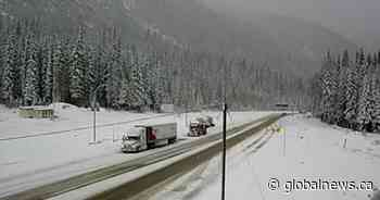 Snowfall warning issued for Trans-Canada Highway in B.C.'s Southern Interior