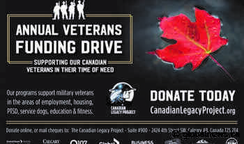 Global Calgary and Global News Radio 770 CHQR support: The Veterans Funding Drive