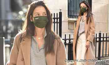 Katie Holmes, 41, steps out in a stylish power coat