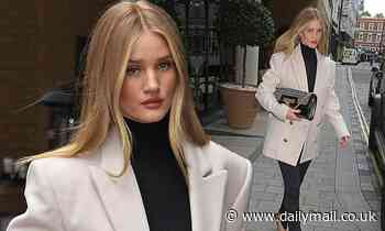 Rosie Huntington-Whiteley looks effortlessly chic as she steps out in London